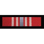 Baretka Medal Opiekuna Miejsc Pamięci Narodowej - Srebrny (nr prod. 123 sr)