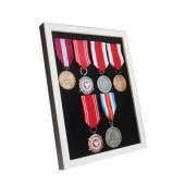 Ramka ekspozytor na 1-8 medali z 6 medalami atłas czarny