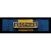Baretka Medal Misji Unii Europejskiej SOPHIA (żółta) z wpinką (nr prod 37A)