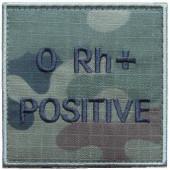 Grupa krwi ORh+ na mundur polowy wz. 2010 emblemat