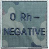 Grupa krwi ORh-  na mundur polowy wz. 2010 emblemat