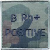Grupa krwi BRh+ na mundur polowy wz. 2010 emblemat