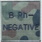 Grupa krwi BRh- na mundur polowy wz. 2010 emblemat