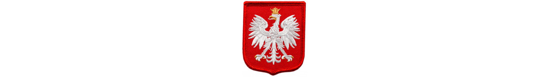 Orzełki, grupy krwi-emblematy haftowane